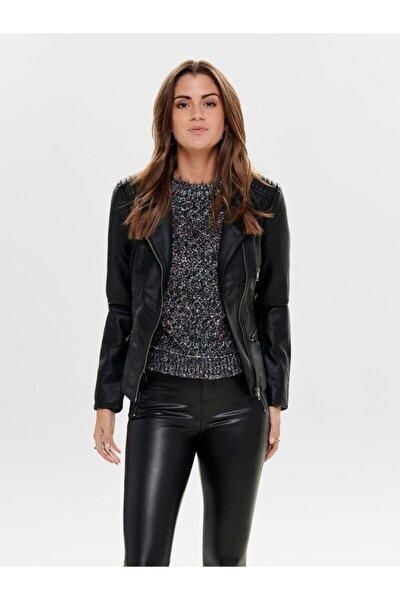 Freya Faux Leather Bıker Otw Noos