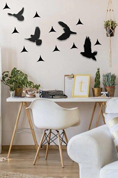 Yıldızlı Uçan Kuşlar Dekoratif Tablo
