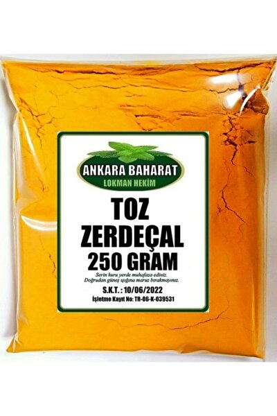 Zerdeçal Toz 250 Gram - Öğütülmüş Doğal