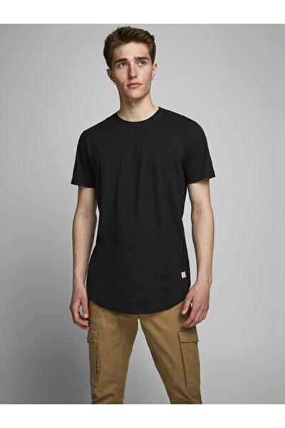 JJENOA TEE SS CREW NECK N Siyah Erkek T-Shirt 101069436