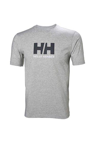 Hh Logo Erkek T-shirt Gri Melanj