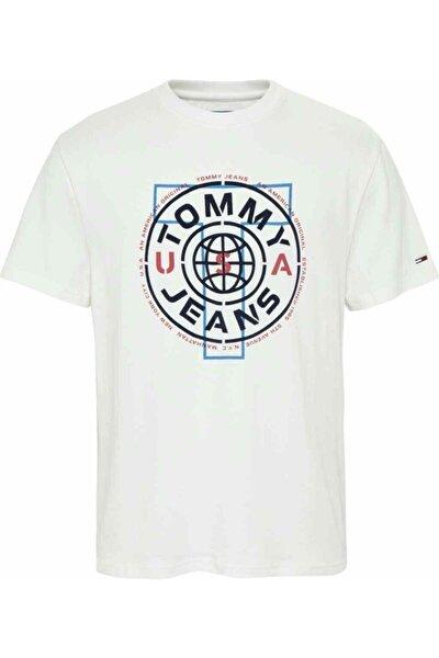 Erkek Beyaz T-Shirt Tjm Cırcle Logo Tee DM0DM07852