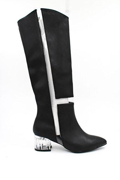 Kadın Şeffaf Detaylı Çizme