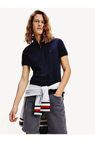 Erkek Th Fermuarlı Interlock Slim Polo T-shirt