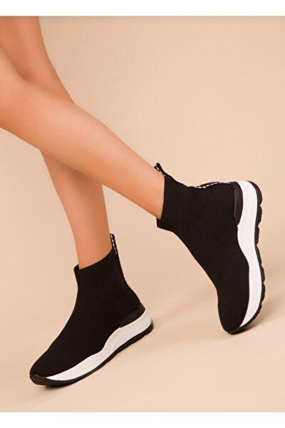 Kadın Triko Streç Çorap Bot Sneaker Günlük Spor Ayakkabı