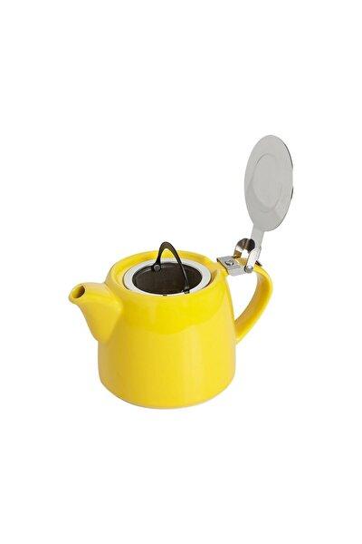 Chai Süzgeçli Stoneware Demlik 600 Cc. - Sarı