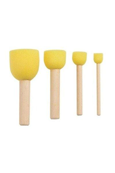Sünger Tampon Fırça Seti 4'lü (Ponpon Fırça)