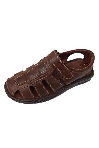 214 Hakiki Deri Hafif Erkek Sandalet