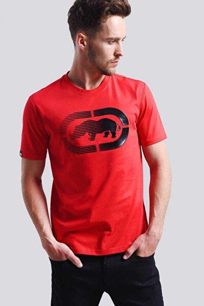 Logo Tee 2 Kırmızı Erkek Baskılı Bisiklet Yaka T-shirt