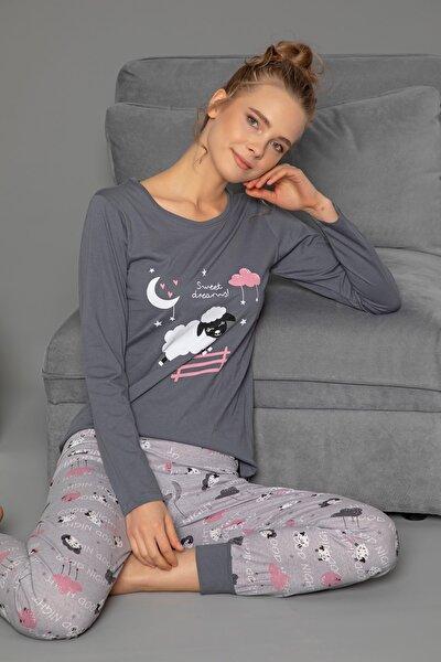 Pamuklu Uzun Kol Pijama Takımı