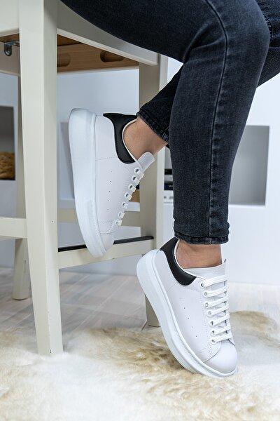 Unisex Beyaz Bağcıklı Spor Ayakkabı