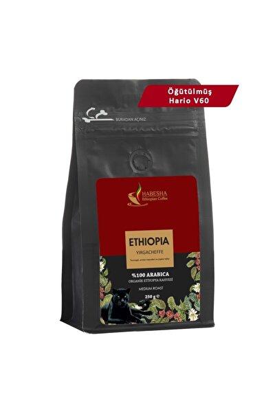 Yirgacheffe Organik Etiyopya Yöresel Kahvesi 250 gram Öğütülmüş Hario V60