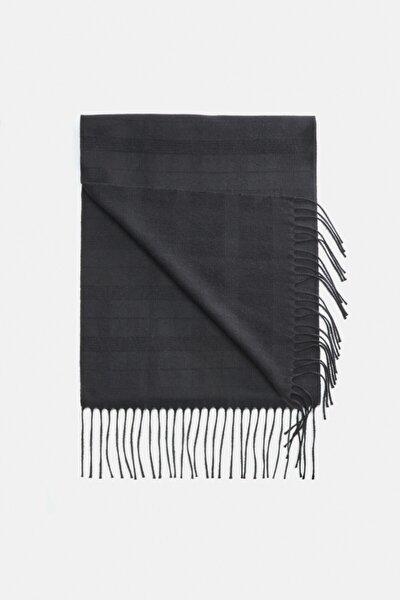 Erkek Siyah Kareli Şal A02y9414