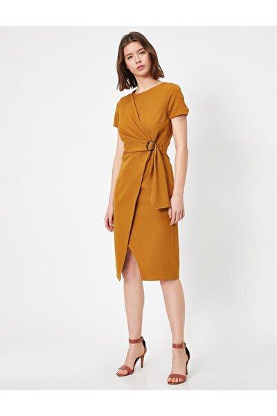 Kadın Beli Bağlamalı Elbise