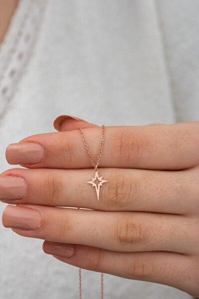 Gümüş Kutup Yıldızı Kolye Kutup Yıldızı Model Gümüş Kolye Dn469