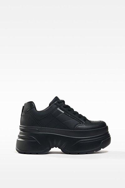 Kadın Siyah XL Platform Spor Ayakkabı 11506760