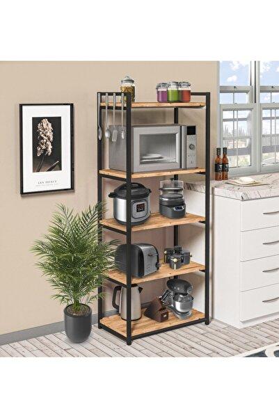 Mikrodalga Fırın Dolabı 5 Raflı Metal Mutfak Düzenleyici