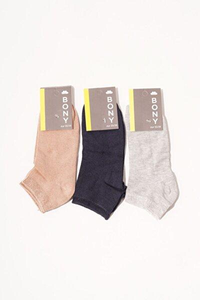 Kadın Renkli 3'lü Step Çorap