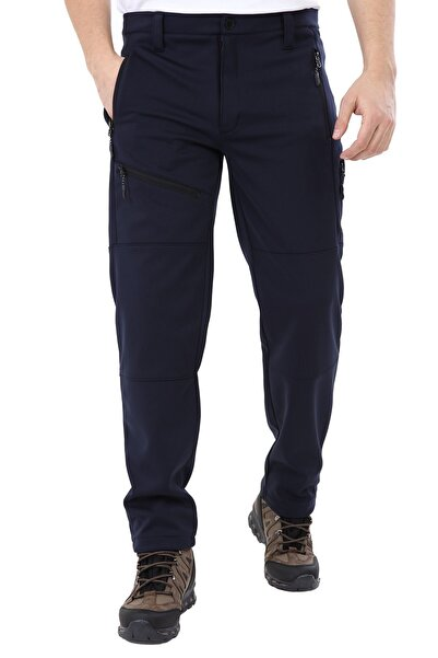 Erkek Tactical Outdoor Su Geçirmez Lacivert Softshell Pantolon