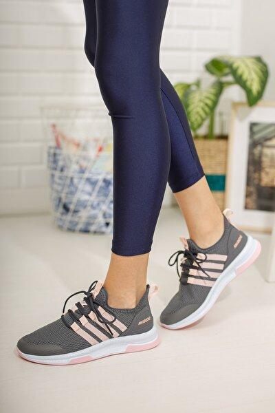 Füme Pudra Kadın Sneaker