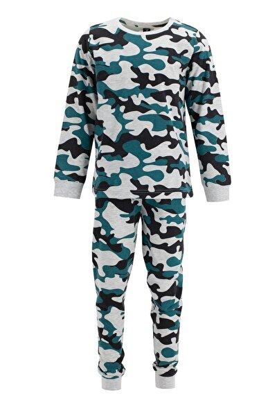 Erkek Çocuk Kamuflaj Desenli Pijama Takımı