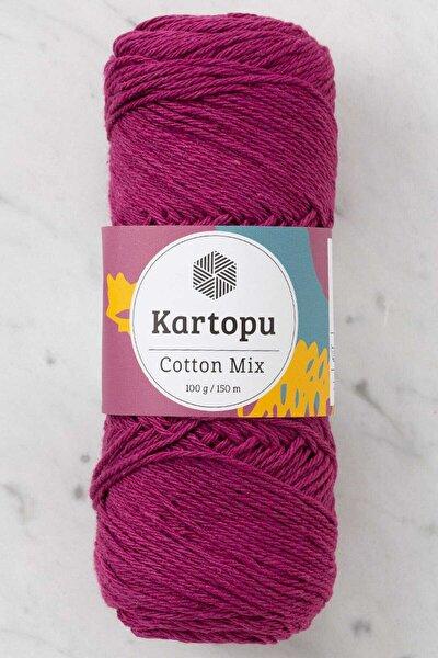 Cotton Mix Mor El Örgü İpi - 2171S