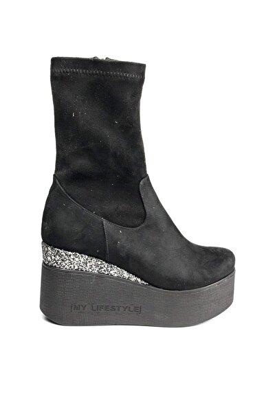 Siyah Kadın Çizme 20KGUZ403S
