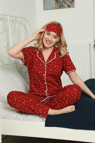 Kadın Süprem Kısa Kollu Pijama Takımı