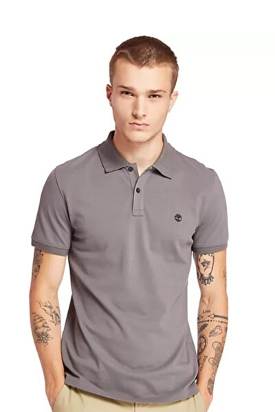 Ss Millers River Collar Jacquard Polo Erkek T-shirt Gri