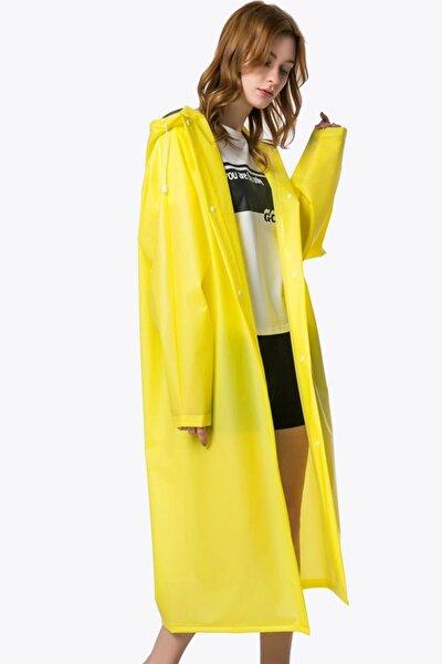 Unisex Yağmurluk Kapüşonlu Sarı
