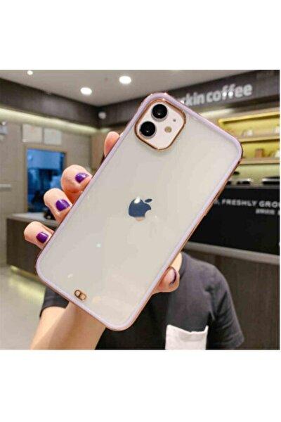 Iphone 11 Premium Electrolize Silikonlu Lila Telefon Kılıf