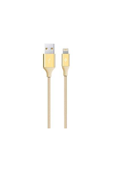 Alumicable Örgü Iphone Uyumlu Şarj Kablosu Altın Renk 120 cm