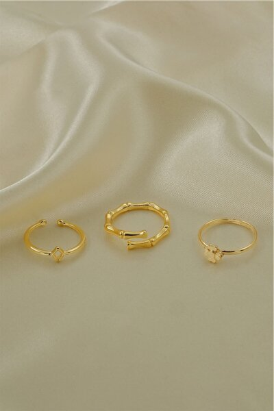 Altın Kaplama İnce Üçlü Set