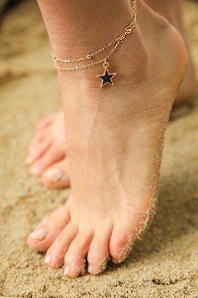 Kadın Gold Yıldız Figürlü Halhal