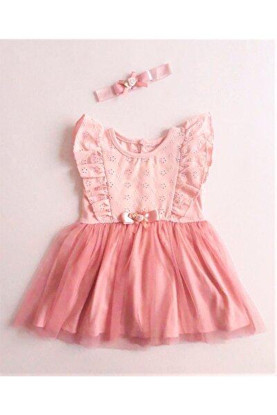 Kız Bebek Tüllü Kolsuz Elbise