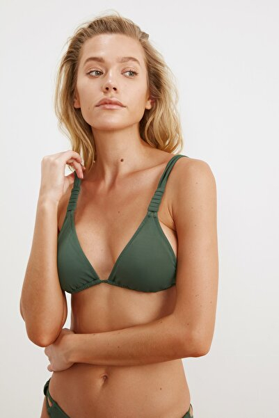 Yeşil Askı Detaylı Bikini Üstü TBESS21BU0194