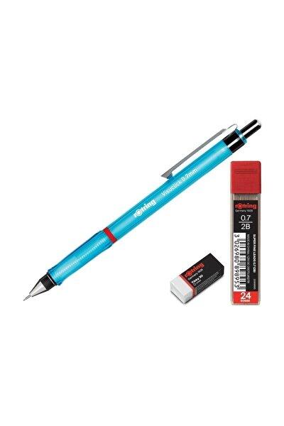 Visuclick 0.7 Uçlu Kalem Seti Uç Ve Silgi Hediyeli Mavi
