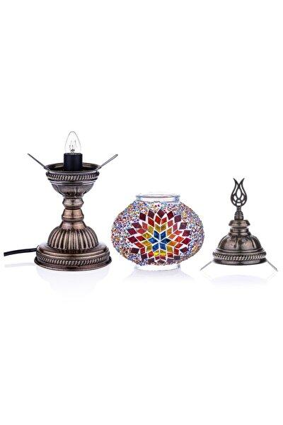 Otantik Osmanlı Dekoratif Mozaik Masa Lambası