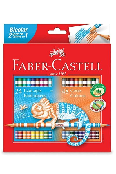 Faber Bicolor 24x2 Renk Uzun Kuru Boya (5171120624)