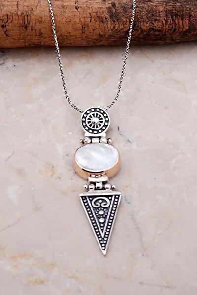 Inci Antik Tasarım Elişi Gümüş Kolye 7049