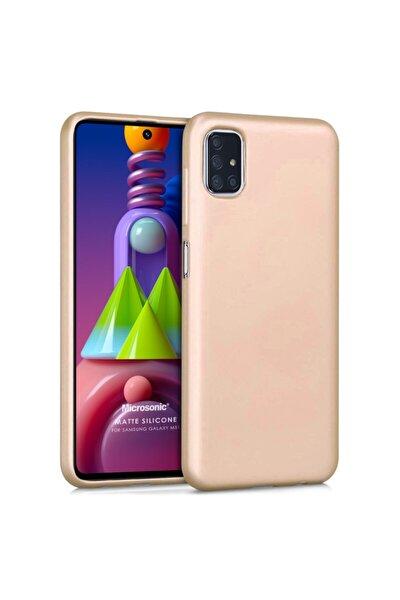 Microsonic Matte Silicone Galaxy M51 Kılıf Gold