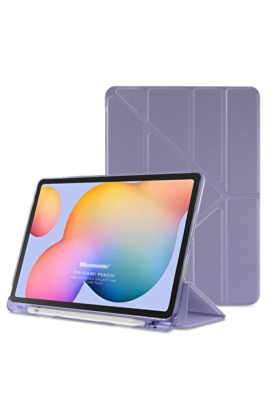 "Microsonic Galaxy Tab S6 Lite 10.4"" P610 Kılıf Origami Pencil Lila"