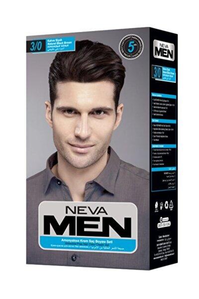 Kahve Siyah Men Amonyaksız Krem Saç Boyası Seti 3/0
