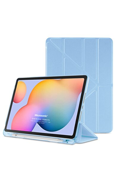 "Microsonic Galaxy Tab S6 Lite 10.4"" P610 Kılıf Origami Pencil Mavi"