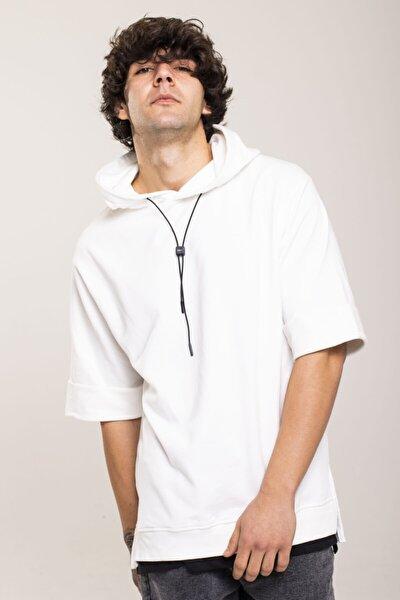 Beyaz Kısa Kollu Sweatshirt 1kxe8-44515-01