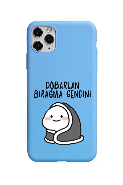 Xiaomi Redmi Note 7 Dobarlan Bıraqma Gendini Tasarımlı Mavi Premium Telefon Kılıfı