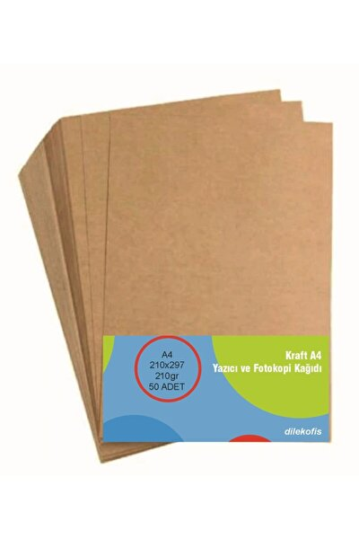 Kraft Kağıt A4 210gr 50'li Pk