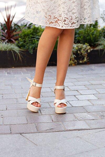 14 cm Topuk Rahat Gelin Ayakkabısı