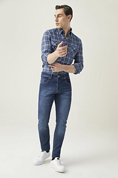 Erkek Slim Fit Mavi Renk Pantolon