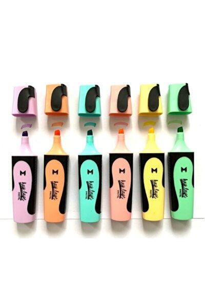 Haylayt Pastel 6'lı Fosforlu Kalem